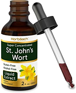 St Johns Wort Tincture | 2 Oz | Alcohol Free | Vegeterian, Non-GMO, Gluten Free Liquid Extract | by Horbaach