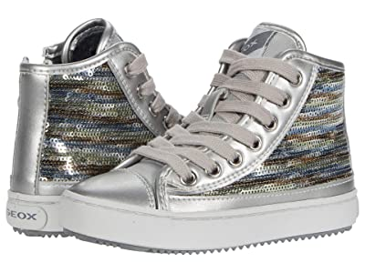Geox Kids Kalispera 40 (Toddler/Little Kid) (Dark Silver) Girl