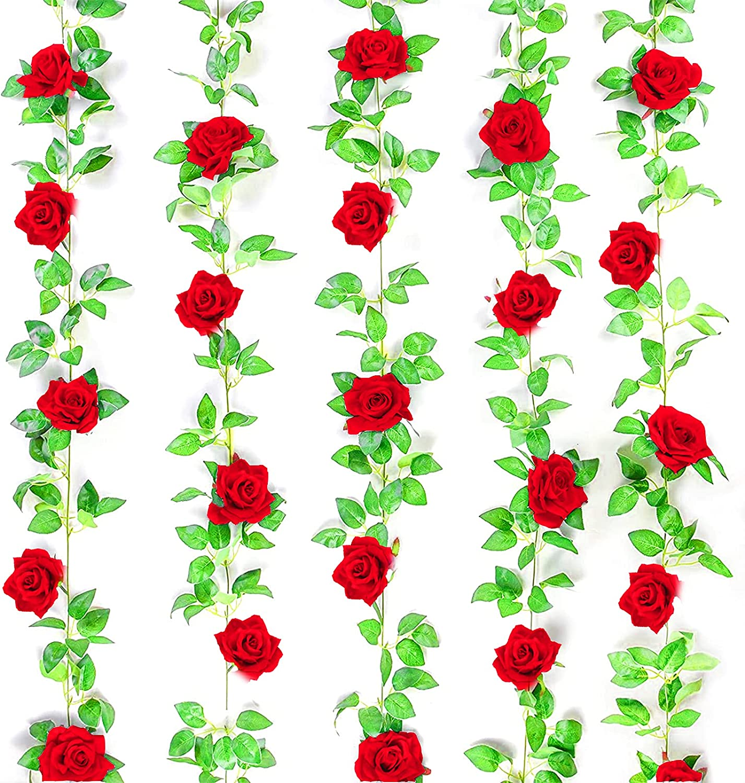 5 Pack Flower Garland Rose Dec UUSETT Max 90% OFF Garlands 5% OFF Vines for