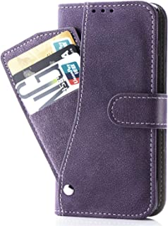 Asuwish Note 4 Case,Phone Cases Wallet Leather with Credit Card Holder Slim Kickstand Stand Flip Folio Protective Cover for Samsung Galaxy Note 4 Note4 Women Girls Men Purple