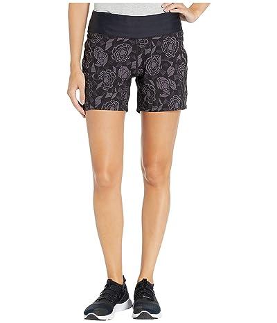 Skirt Sports Go Longer Short (Noir Fleur Print) Women