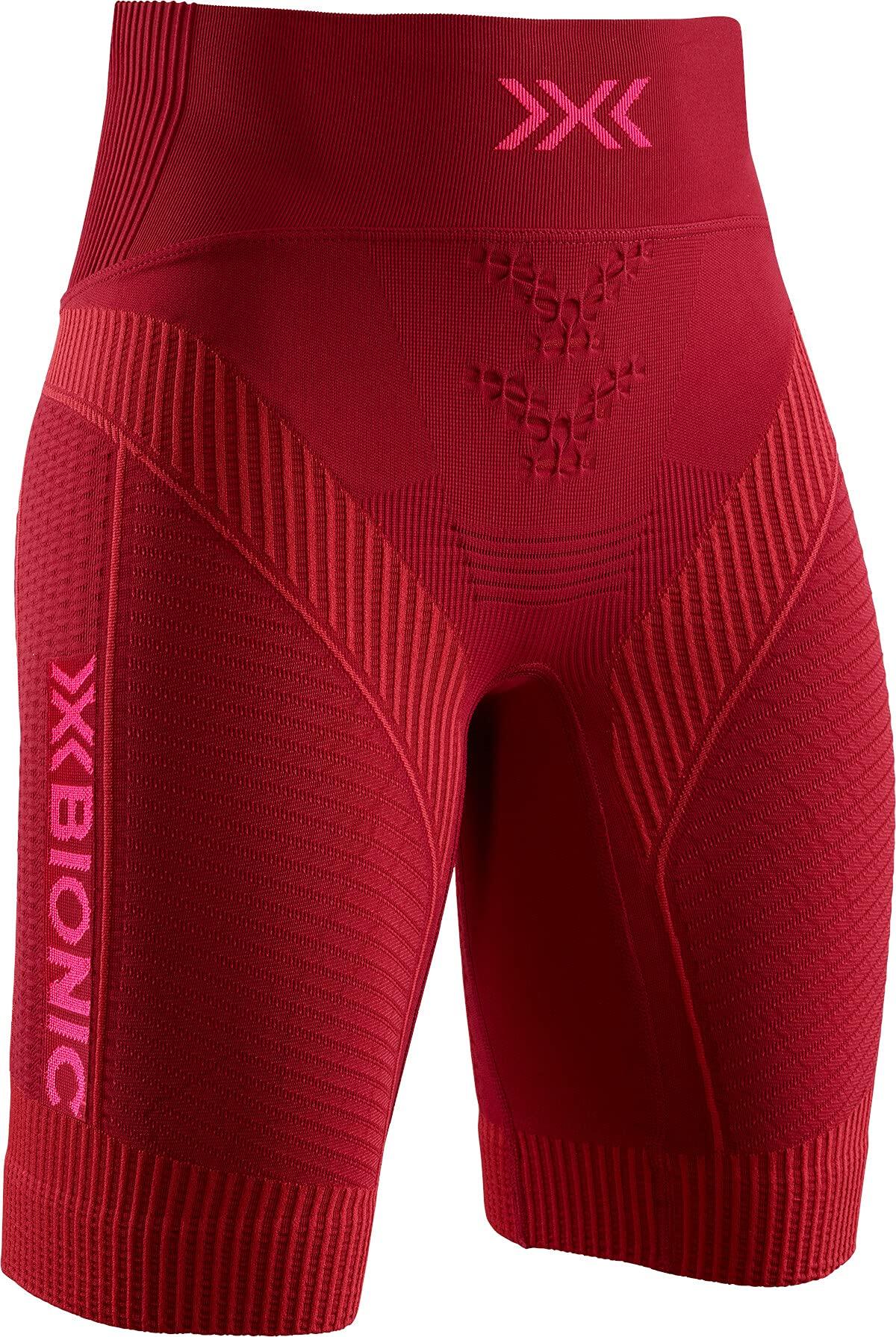X-Bionic Damen Effektor 4.0 Running Shorts, namib red/Neon Flamingo, XL