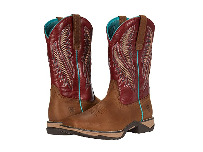 Ariat  Anthem VentTEK (Antique Tan/Brick Red) Cowboy Boots