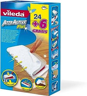 Vileda Attractive Plus, Recambios para mopa, pack 24 + 6 unidades
