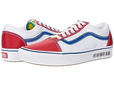 Vans Comfycush Old Skool ((Retro Mart) Barcode/Multi) Athletic Shoes