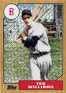 2017 Topps 87 Chrome Silver Promo Series 2 Refractors #87-TW Ted Williams Red Sox MLB Baseball Card NM-MT