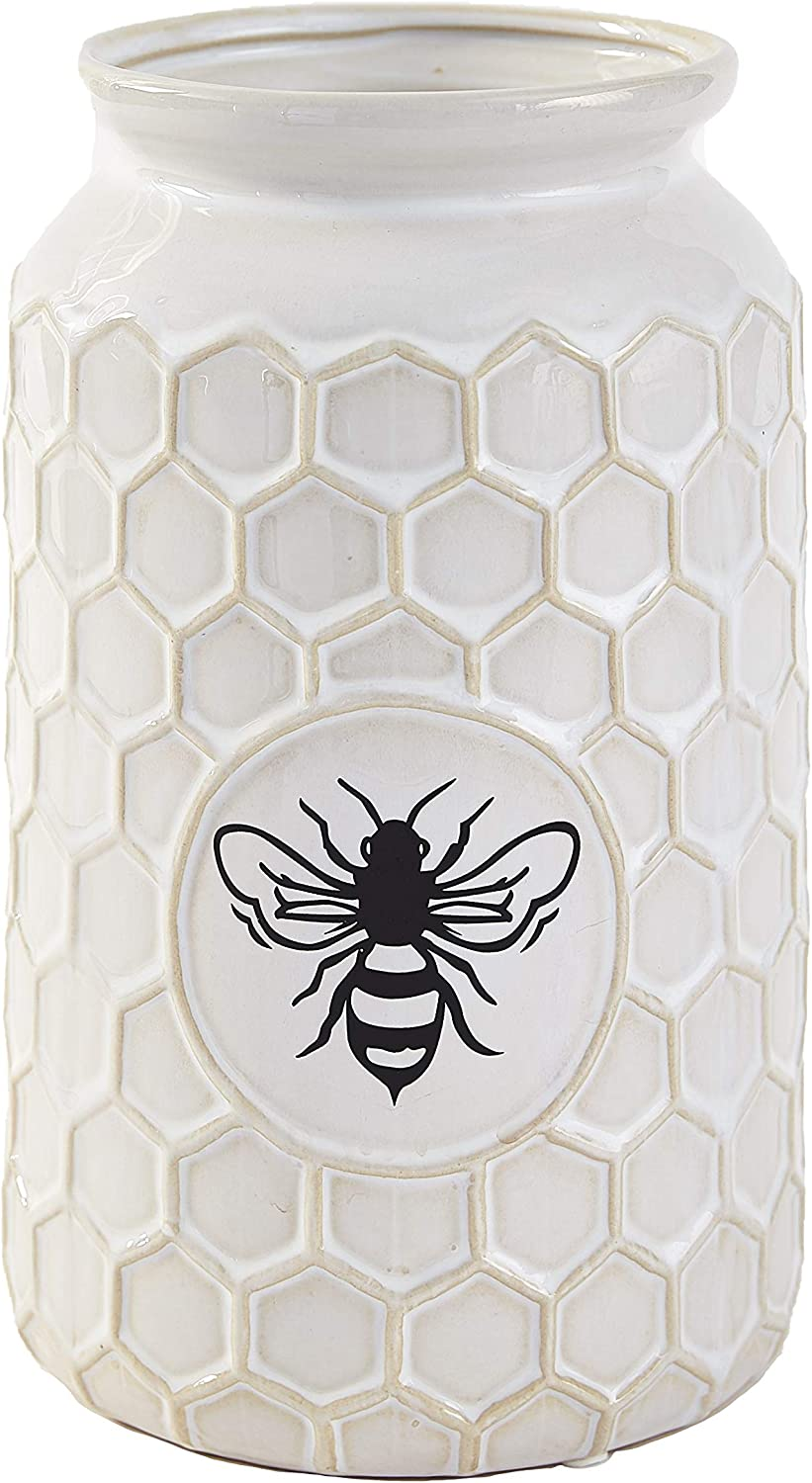 The Lakeside Collection Ceramic OFFer Honeycomb New product! New type with Texture Hone Vase