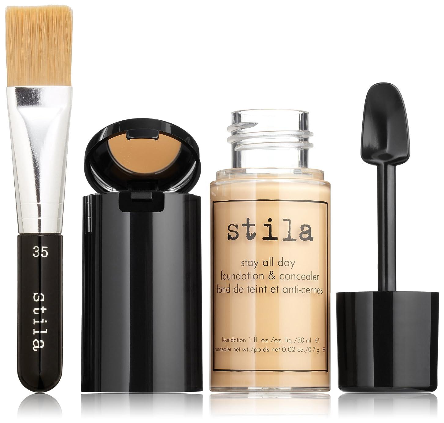 同情平和なぜスティラ Stay All Day Foundation, Concealer & Brush Kit - # 7 Buff 2pcs並行輸入品