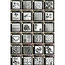 Kunst Malerei Vorlagen f/ür Scrapbooking Zeichnung Verfolgung DIY M/öbel Wand Boden Dekor 6 Set geometrische Waben Schablonen 18CM