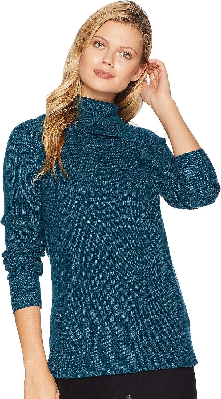 Elliott Lauren Womens Marled SplitNeck Sweater