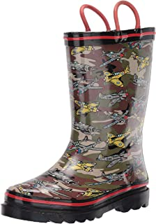 Western Chief Kids Printed Rain Boots, Fighter Plane
