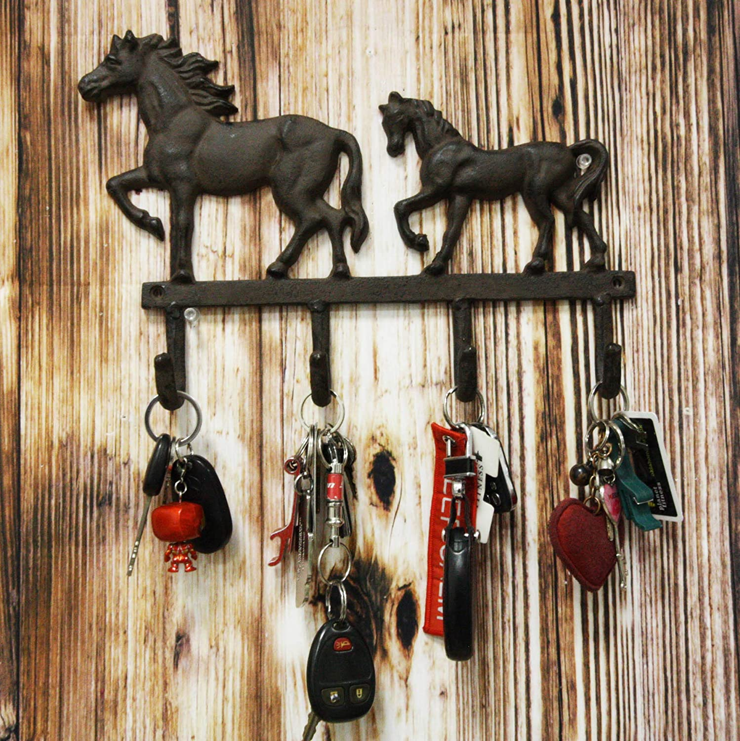 Ebros Cast Iron Rustic Western Country Farm Ranking TOP3 55% OFF With Horse Coat Foal