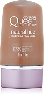 CoverGirl Queen Collection Liquid Makeup Foundation, Warm Caramel 730, 1.0 Ounce Bottle Pack of 2 Warm Caramel 730