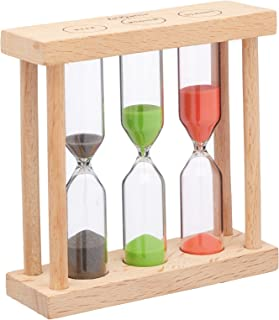 "KitchenCraft Le'Xpress 3-in-1 Wooden Hourglass-Style Tea Timer, 9 x 3 x 9 cm (3.5"" x 1"" x 3.5"")"
