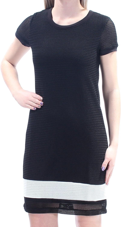 Bar Iii Womens Textured Shirt Dress