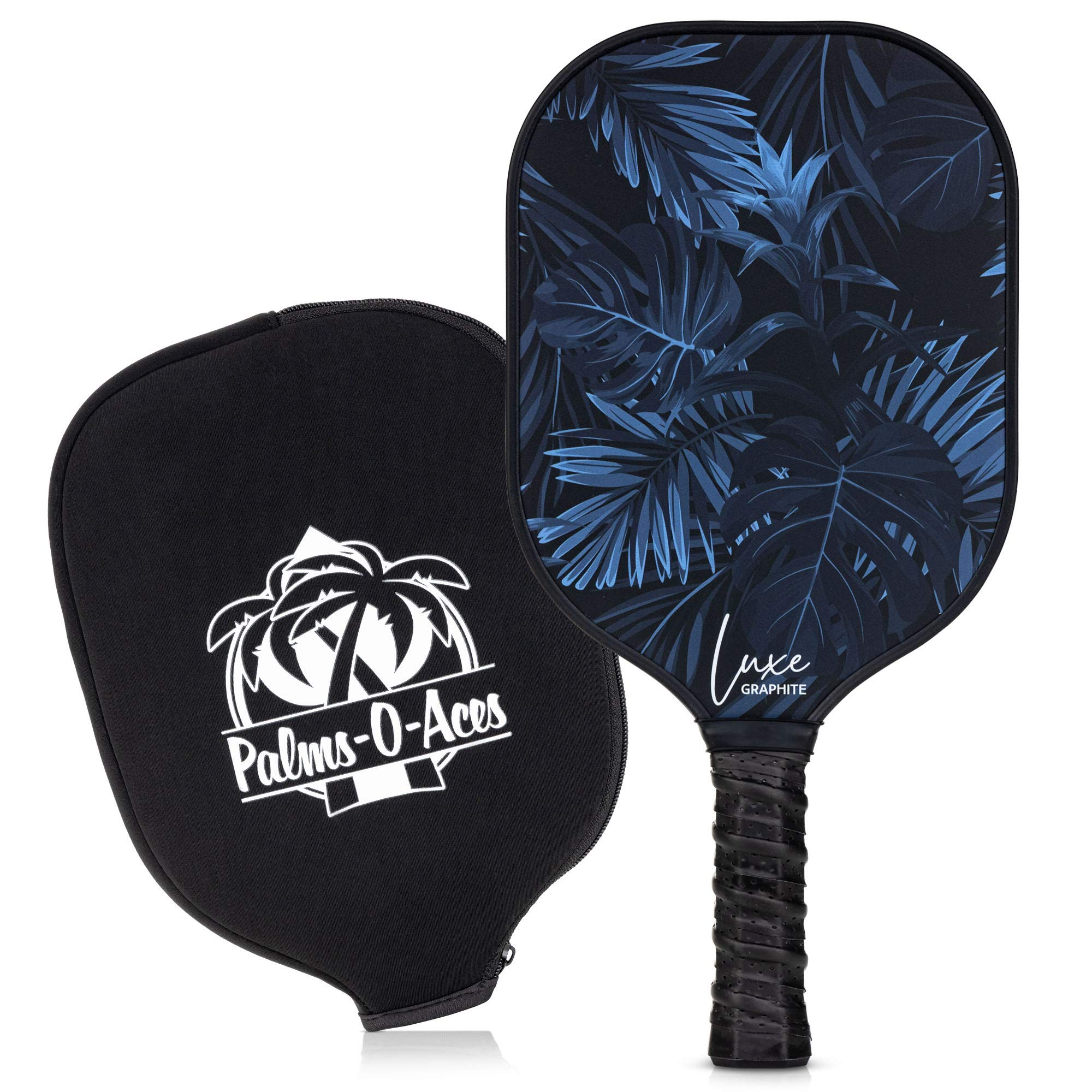Palms-O-Aces Graphite Pickleball Paddle with Cover - T -WQ75