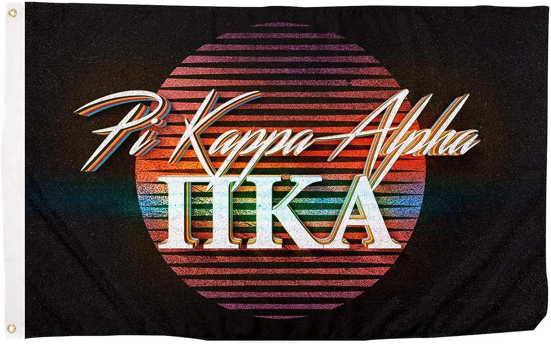 Pi Kappa Alpha 80's Letter Fraternity Flag Banner 3 feet x 5 feet Sign Decor Pike (Flag - 80's)