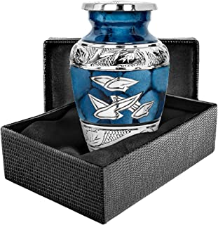 Trupoint Memorials Heavenly Peace Dark Blue Wings Small Keepsake Urn for Human Ashes - Qnty 1 - This Small Keepsake Makes ...