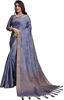 Face Deal 6 Meter Stylish Cotton Silk Jacquard Woven Daily Wear Saree For Women Lightweight Easy to Carry with designer Ta...