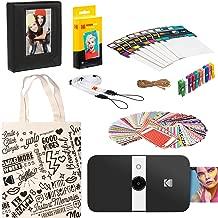 KODAK Smile Instant Print Digital Camera (Black/White) Starter Kit