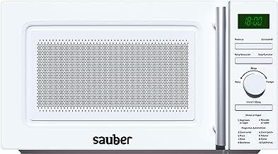 Sauber – Micro-ondes à vapeur – Avec grill – Série 3-21 WG – 20 litres – Blanc Cuisine à vapeur.