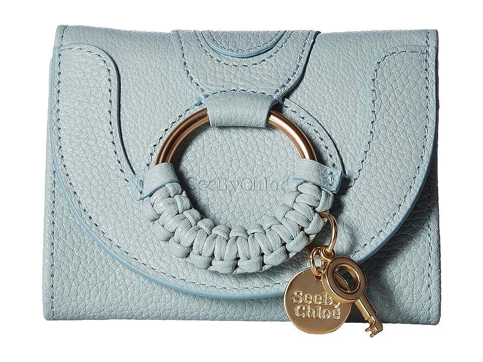 See by Chloe Hana Leather Wallet (Icy Blue) Handbags