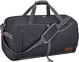 Canway 65L Travel Duffel Bag, Foldable Weekender Bag with Shoes Compartment for Men Women Water-proof & Tear Resistant (Pa...