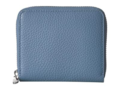 ECCO SP 3 Small Zip Around Wallet (Retro Blue) Wallet Handbags