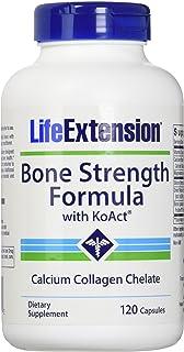Life Extension Bone Strength Formula with Koact Vegetarian Capsules, 120 Count