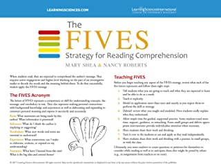 The Fives Strategy for Reading Comprehension Quick Reference Guide