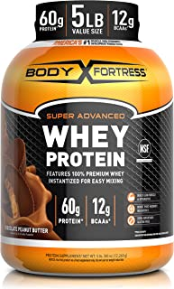 Sponsored Ad - Body Fortress Whey Protein Powder 5 lb, Chocolate Peanut Butter