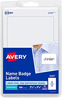 Avery Personalized Name Tags, Print or Write, 2-1/3