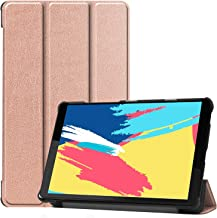 DOHUI for Lenovo Tab M8 FHD Case, Ultra Slim Lightweight PU Leather Cover Case with Stand for Lenovo Tab M8 FHD 8 Inch Tablet 2019 (Rosegold)