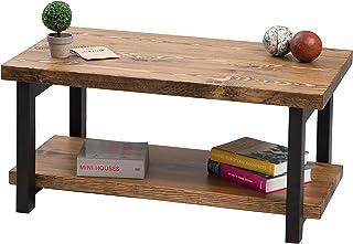 Gozos Design Huesca stolik kawowy z drewna – lite drewno s