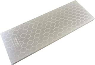 """Taytools 107214 8"""" x 3"""" 400/1000 Grit Diamond Sharpening Stone/Plate 5/16"""" Thick Plated Steel Base"""