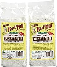 Bob's Red Mill Organic Rye Dark Flour - 22 oz - 2 pk