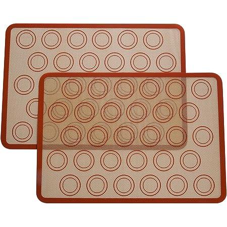 BETOY Silikon Backmatte Premium 3 St/ück Nonstick Backen Backwaren Werkzeuge Silikon Backblech K/üchenwerkzeuge Silikonform Schweizer Rollmatte Backwerkzeuge Zuf/ällige Farbe