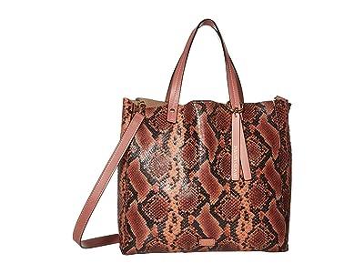 Frances Valentine Margaret Tote (Natural/Pink) Handbags