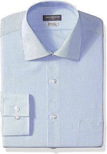 Van Heusen Hommes's Robe Shirts Flex Collar Regular Fit Stripe, bleu Stone, 15  Neck 32 -33  Sleeve