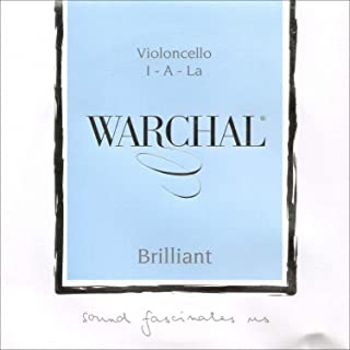 Warchal Brilliant Cello A String - Hyronalium Winding - Synthetic Core - Medium