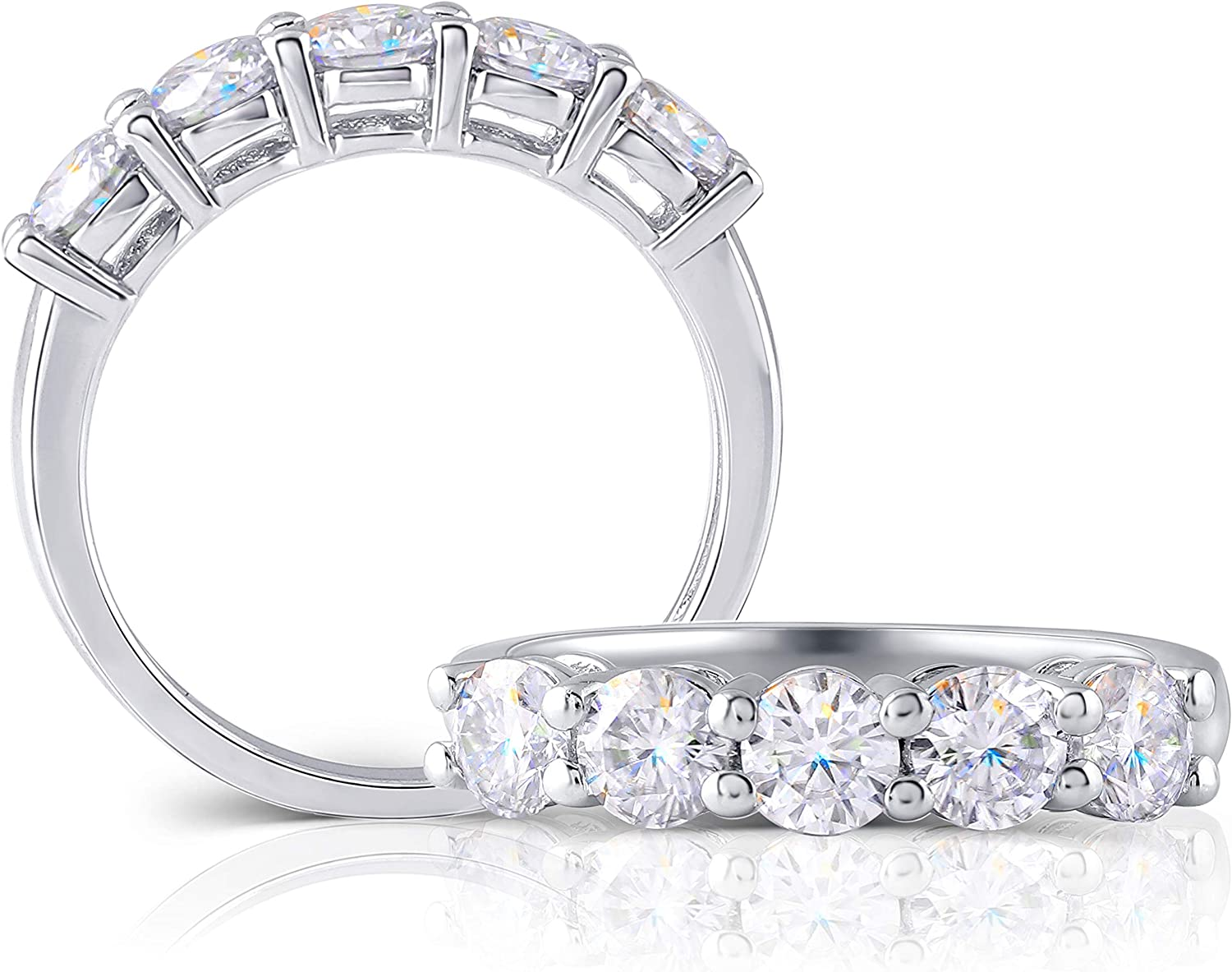 DovEggs Mesa Mall Selling and selling Sterling Silver 1.25 CTW Created Color Moissanite G-H-I