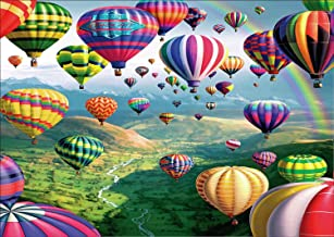 DIY 5D Diamond Painting by Number Kit, Hot Air Balloon Rhinestone Embroidery Cross Stitch Ornaments Arts Craft Canvas Wall Decor