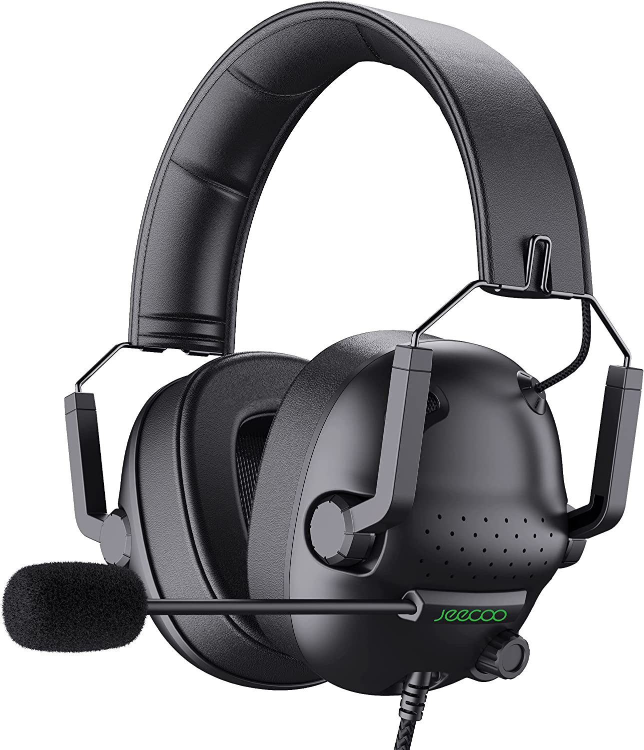 Jeecoo J50 Stereo Gaming Sales results No. 1 Headset Microphone Tampa Mall Folding Clear with