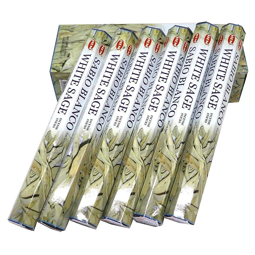 血まみれグロー柱HEM社 インド製 ステックタイプ香 1箱20本入 (ホワイトセージ)