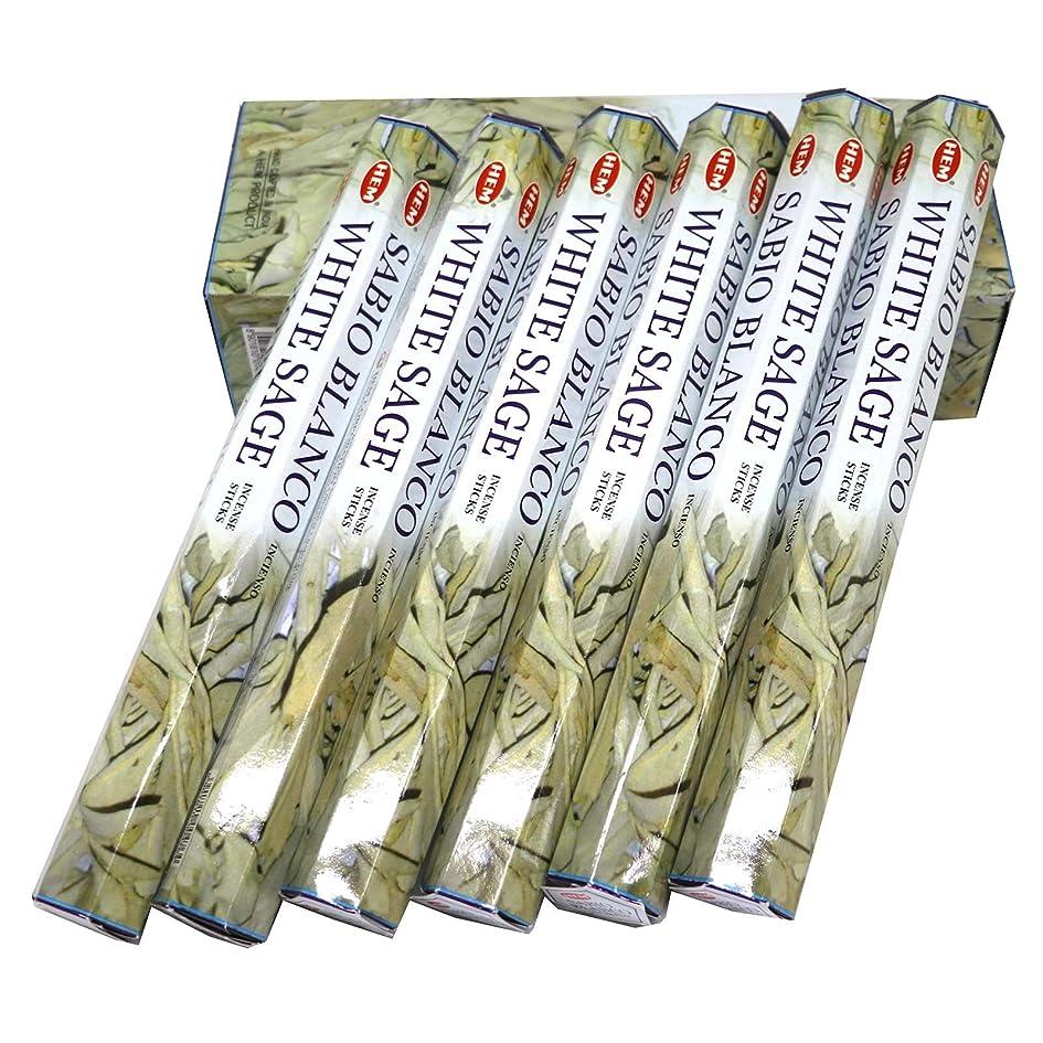マオリ四分円コンバーチブルHEM社 インド製 ステックタイプ香 1箱20本入 (ホワイトセージ)