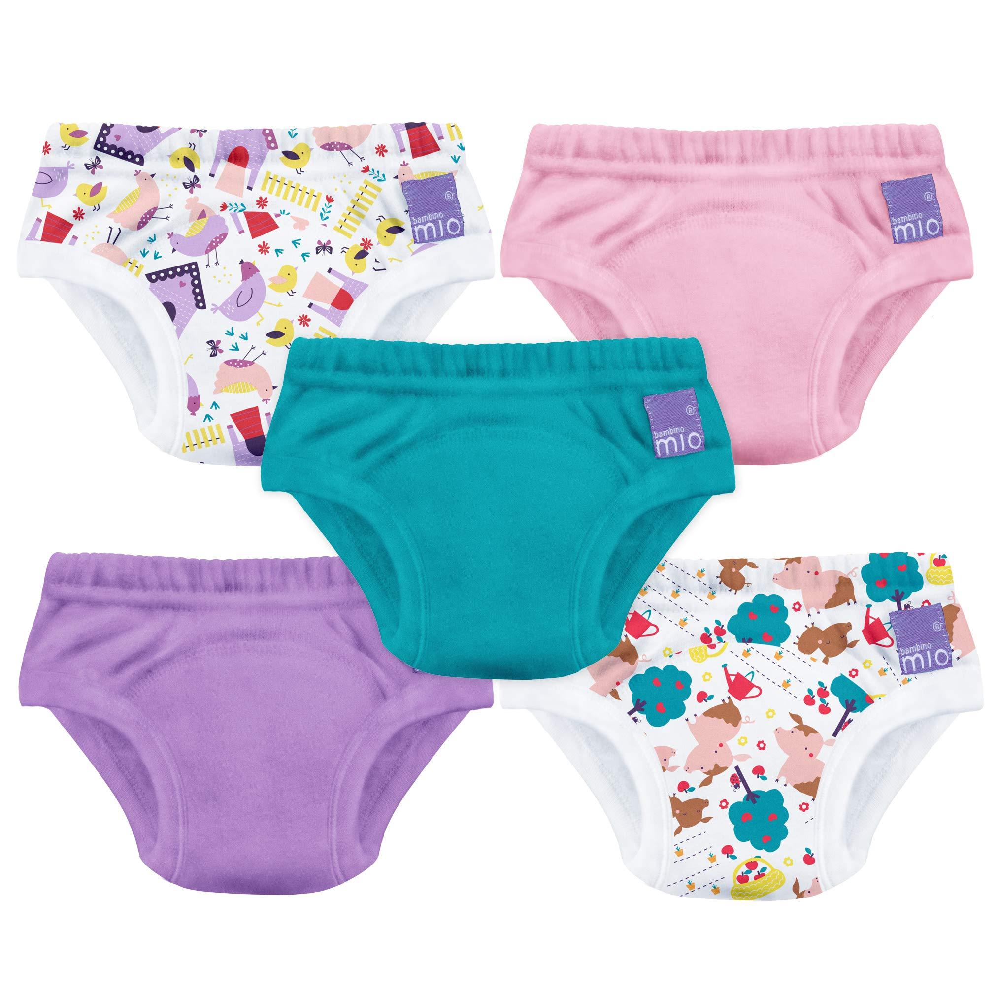 Lictin Underwear Potty Training Pants,7pcs Reusable Kids Potty Training Pants Triple-Layer Training Pants Cute Design Unisex for Baby 1.5-2 Years with 1pcs Reusable Diaper