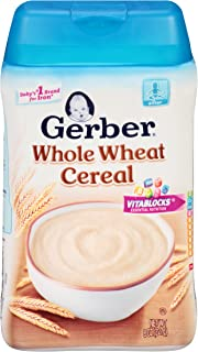 Gerber Whole Wheat Baby Cereal, 8 oz (Pack of 6)