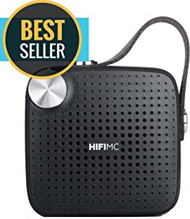 Amazon Special, Top New Deals, 2019 Sales - Portable Wireless Bluetooth Speaker - HiFi Micro - Louder Bigger Volume, Premium Sound Quality, Mic, Waterproof, Extended Battery Life