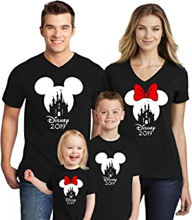 Family Trip Mickey Minnie Mouse Squad Matching Couple T-Shirts