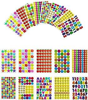 Oruuum 6070 PCS Teacher Reward Stickers,Kids Teacher Stickers Bulk,Smiley Faces Stickers,Stars Stickers,Emojis Stickers